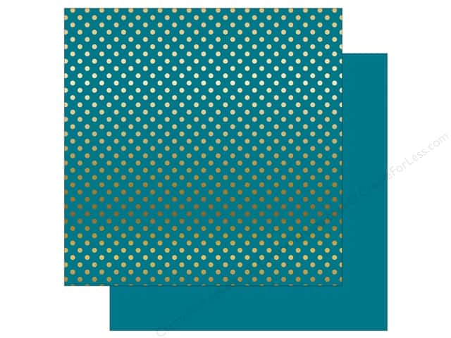 Echo Park 12 x 12 in. Paper Dots & Stripes Gold Foil Blue (15 sheets)