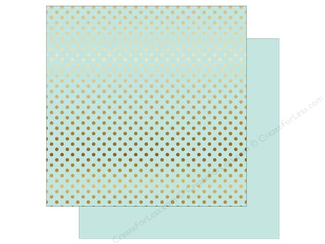 Echo Park 12 x 12 in. Paper Dots & Stripes Gold Foil Light Mint (15 sheets)