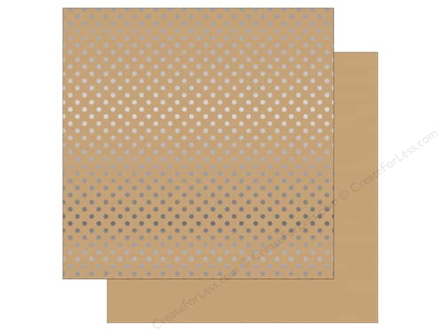 Echo Park 12 x 12 in. Paper Dots & Stripes Silver Foil Tan (15 sheets)