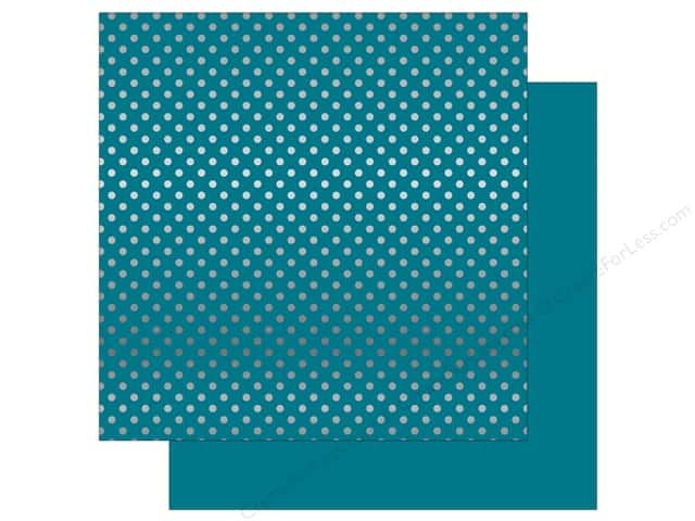 Echo Park 12 x 12 in. Paper Dots & Stripes Silver Foil Blue (15 sheets)