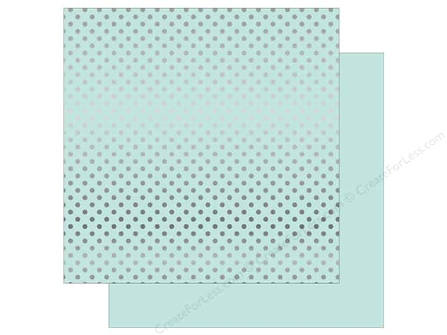 Echo Park 12 x 12 in. Paper Dots & Stripes Silver Foil Light Mint (15 sheets)