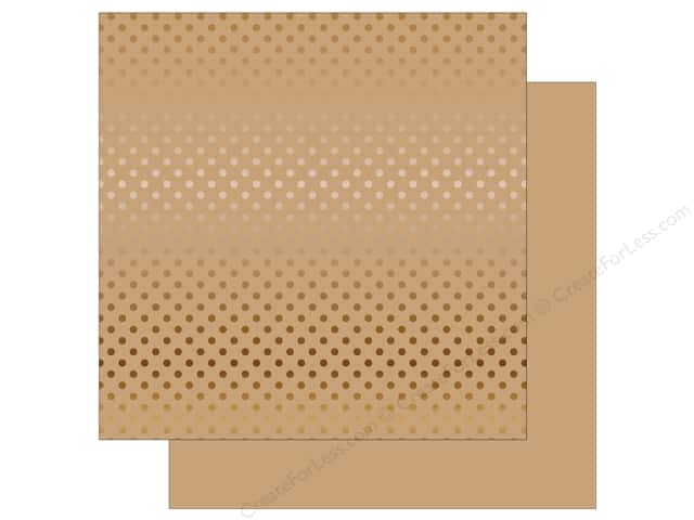 Echo Park 12 x 12 in. Paper Dots & Stripes Copper Foil Tan (15 sheets)