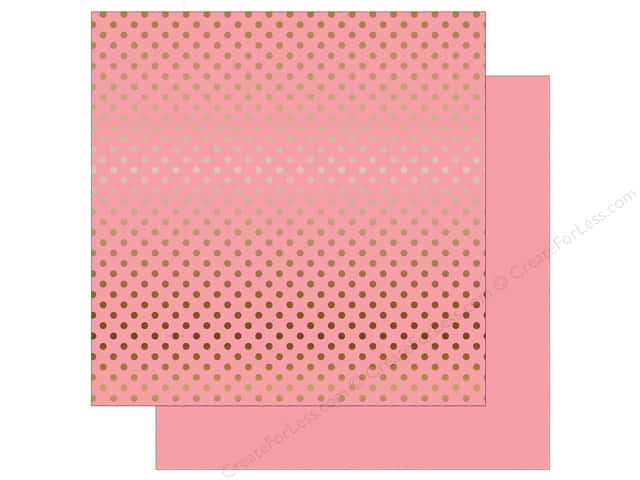 Echo Park 12 x 12 in. Paper Dots & Stripes Copper Foil Pink (15 sheets)