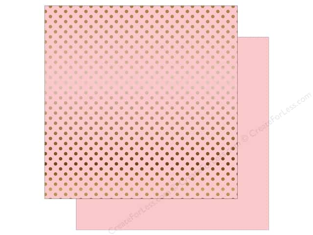 Echo Park 12 x 12 in. Paper Dots & Stripes Copper Foil Light Pink (15 sheets)
