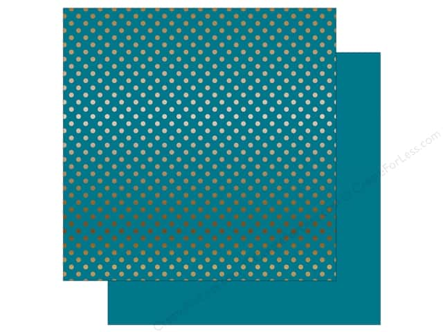 Echo Park 12 x 12 in. Paper Dots & Stripes Copper Foil Blue (15 sheets)
