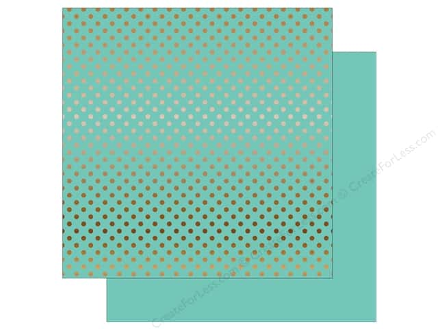 Echo Park 12 x 12 in. Paper Dots & Stripes Copper Foil Mint (15 sheets)
