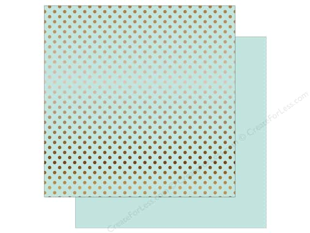 Echo Park 12 x 12 in. Paper Dots & Stripes Copper Foil Light Mint (15 sheets)