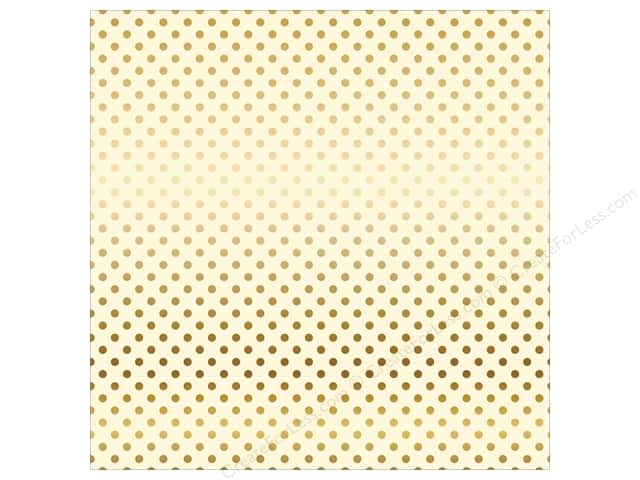 Carta Bella 12 x 12 in. Paper Dots Gold Foil/Cream (15 sheets)