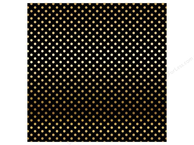 Carta Bella 12 x 12 in. Paper Dots Gold Foil/Black (15 sheets)
