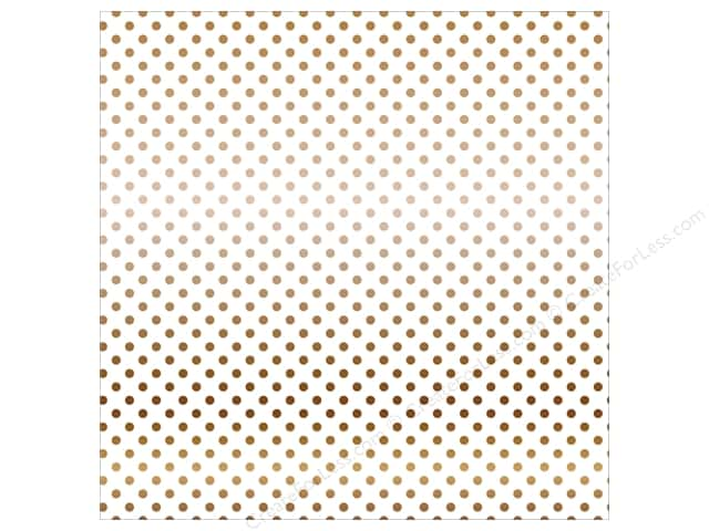 Carta Bella 12 x 12 in. Paper Dots Copper Foil/White (15 sheets)