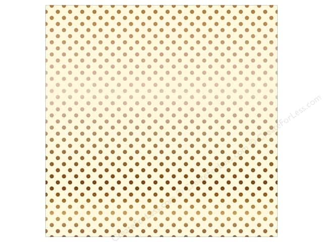 Carta Bella 12 x 12 in. Paper Dots Copper Foil/Cream (15 sheets)