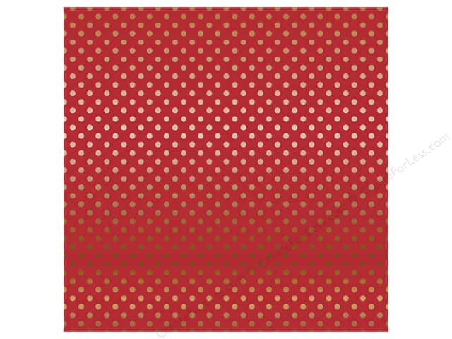 Carta Bella 12 x 12 in. Paper Dots Copper Foil/Red (15 sheets)