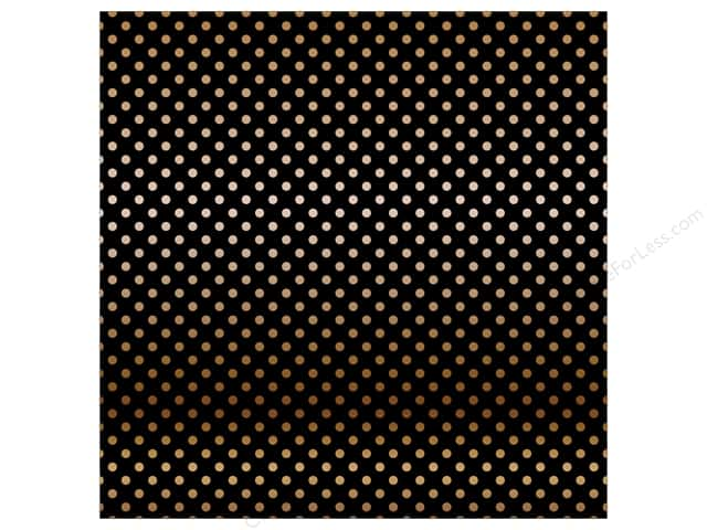 Carta Bella 12 x 12 in. Paper Dots Copper Foil/Black (15 sheets)