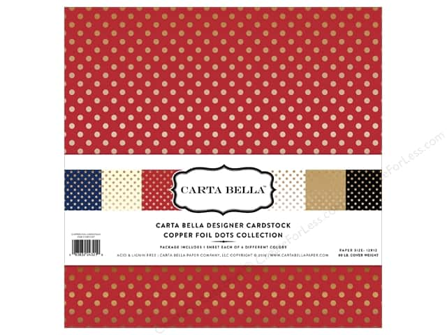Carta Bella 12 x 12 in. Collection Kit Dots Copper Foil
