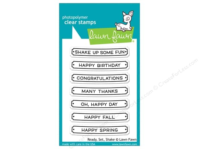 Lawn Fawn Clear Stamp Clear Stamp Ready Set Shake