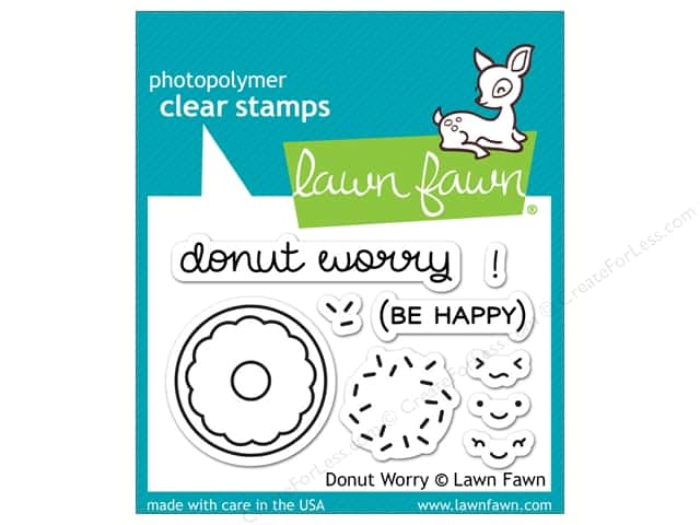 Lawn Fawn Clear Stamp Donut Worry