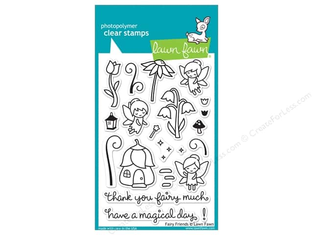 Lawn Fawn Clear Stamp Fairy Friends