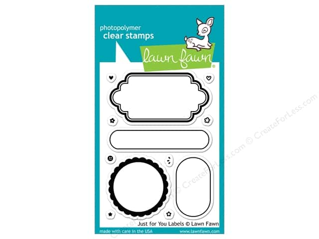Lawn Fawn Clear Stamp Just For You Labels