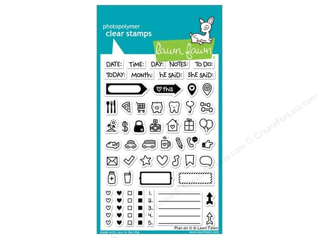 Lawn Fawn Clear Stamp Plan On It