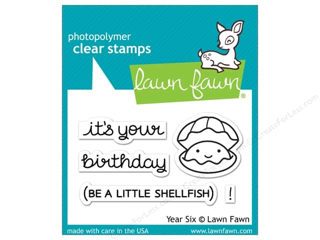 Lawn Fawn Clear Stamp Year Six