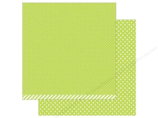 Lawn Fawn 12 x 12 in. Paper Let's Polka In the Meadow Grasshopper Polka (12 sheets)