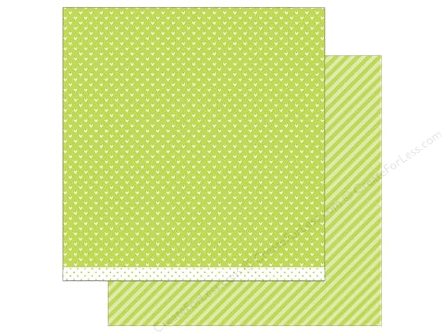 Lawn Fawn 12 x 12 in. Paper Let's Polka In the Meadow Grasshopper Line Dance (12 sheets)