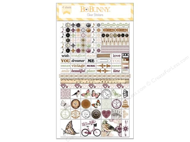 Bo Bunny Clear Stickers Beautiful Dreams
