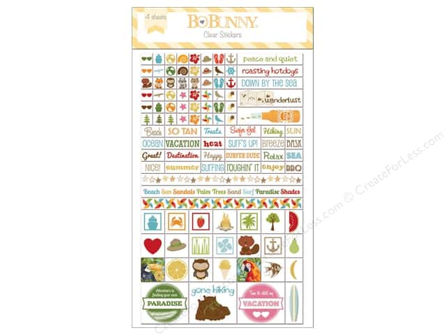 Bo Bunny Clear Stickers Summer Fun