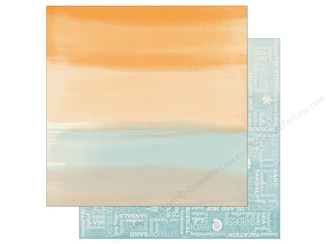 Bo Bunny 12 x 12 in. Paper Beach Therapy Breeze (25 sheets)