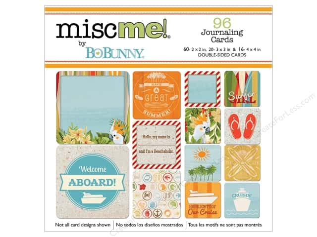 Bo Bunny Misc Me Journaling Cards Beach Therapy
