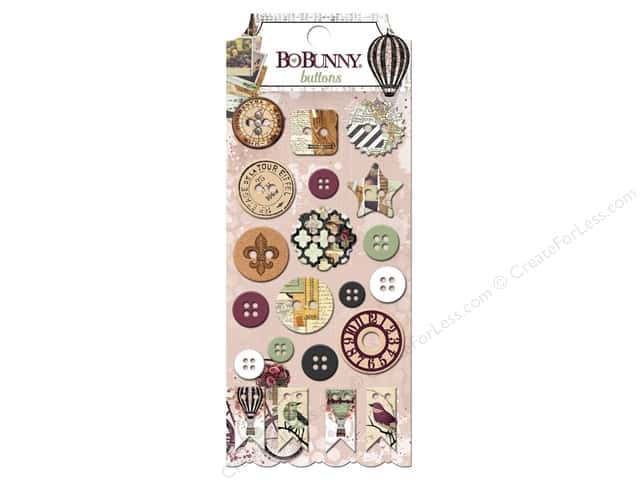 Bo Bunny Buttons 21 pc. Beautiful Dreamer