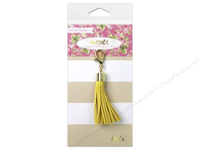 Webster's Pages Color Crush Charm Tassel Yellow