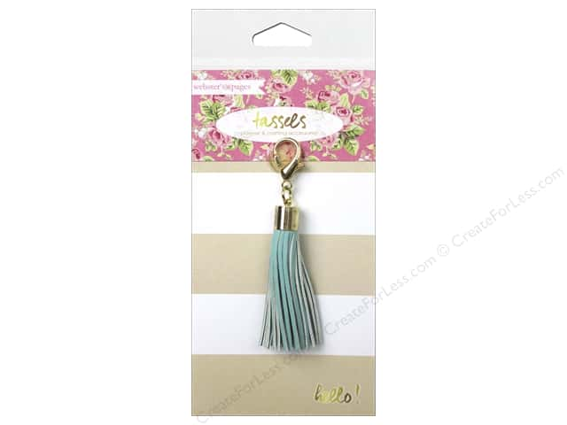Webster's Pages Color Crush Charm Tassel Teal