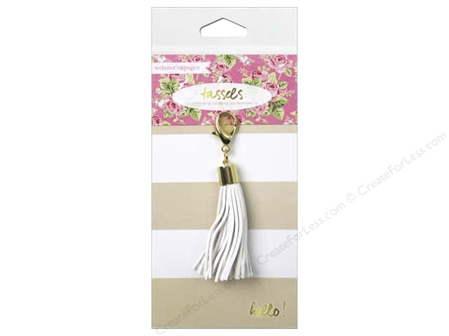 Webster's Pages Color Crush Charm Tassel White