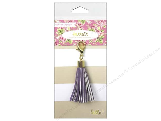 Webster's Pages Color Crush Charm Tassel Purple