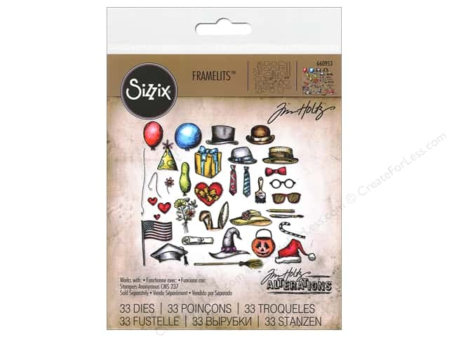 Sizzix Framelits Die Set Crazy Things by Tim Holtz