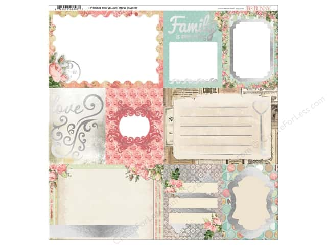 Bo Bunny 12 x 12 in. Vellum Soiree Foil (12 sheets)