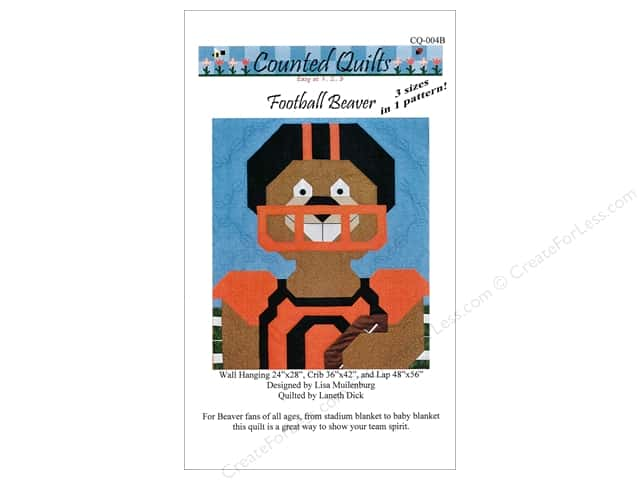 Counted Quilts Football Beaver Quilt Pattern