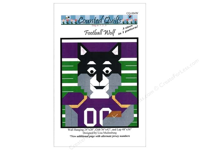 Counted Quilts Football Wolf Quilt Pattern