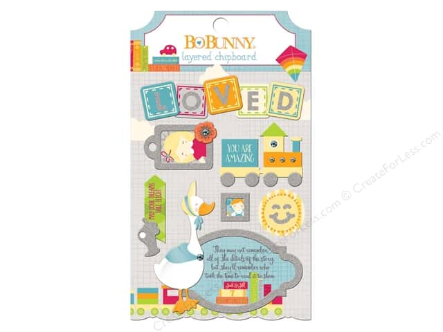 Bo Bunny Layered Chipboard Stickers Toy Box