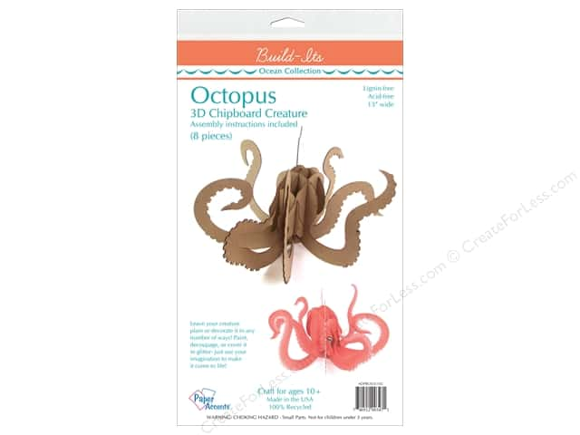 """Paper Accents Build Its Chip Octopus 13"""" Long"""
