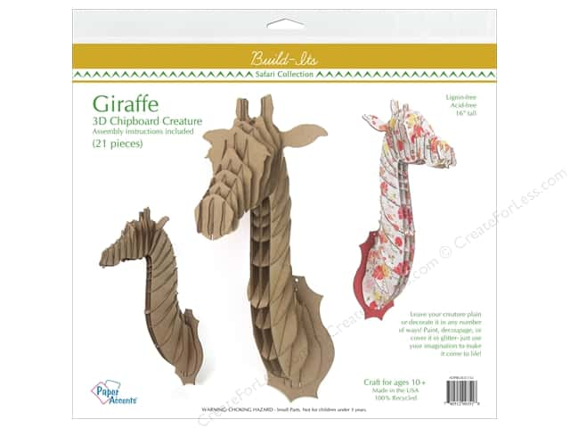 "Paper Accents Build Its Chip Giraffe 16"" Tall"