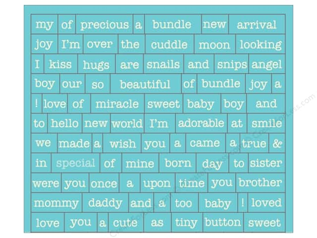 Authentique Stickers Cuddle Boy Petite Diction (12 sets)