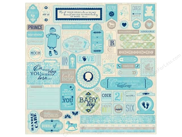 Authentique Stickers Cuddle Boy Details (12 sheets)