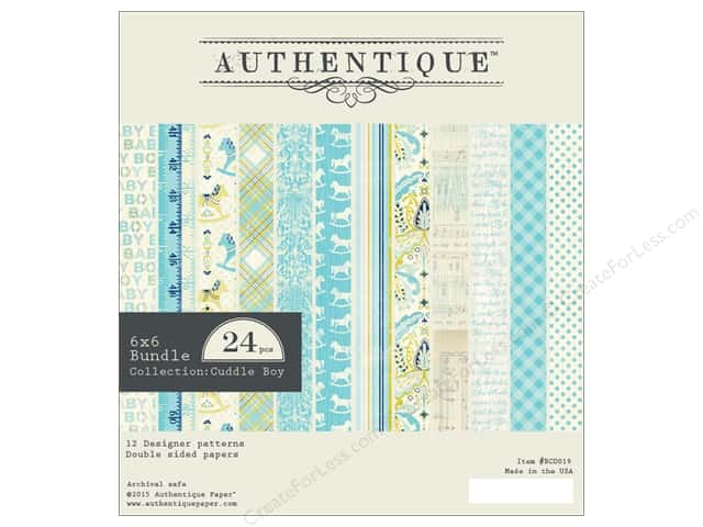 Authentique 6 x 6 in. Paper Bundle Cuddle Collection