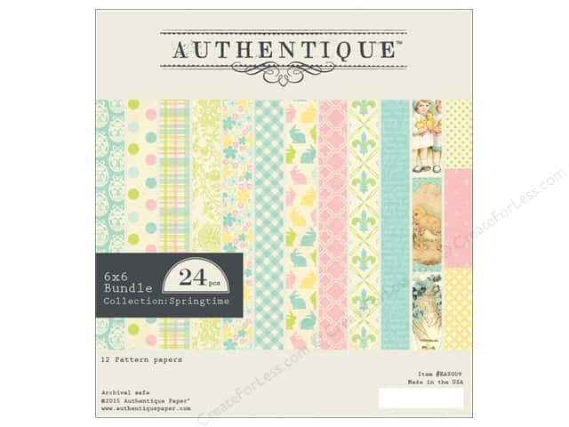 Authentique 6 x 6 in. Paper Bundle Springtime Collection