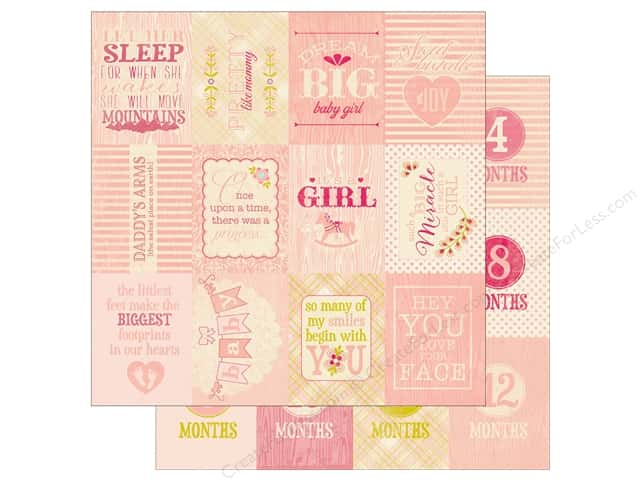 Authentique 12 x 12 in. Paper Cuddle Girl Six (25 sheets)