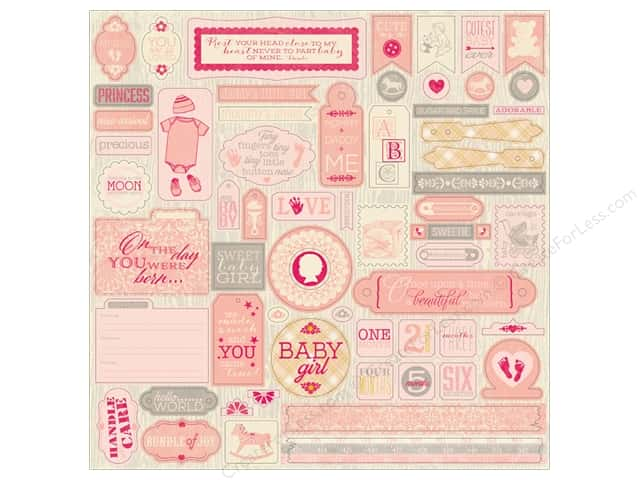 Authentique Stickers Cuddle Girl Details (12 sheets)