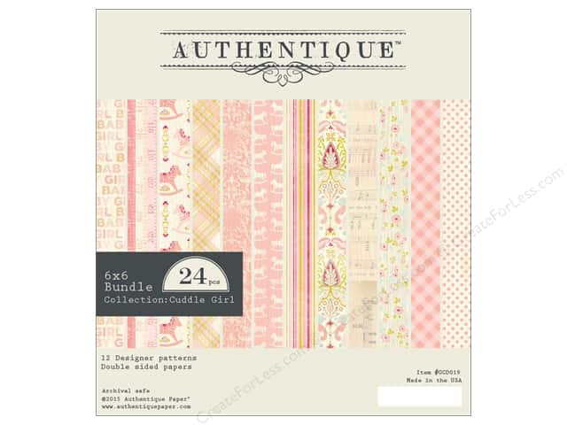 Authentique 6 x 6 in. Paper Bundle Cuddle Girl Collection
