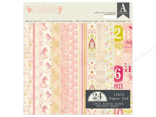 Authentique 12 x 12 in. Paper Pad Cuddle Girl Collection